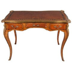 French Louis XV Style Gilt Bronze Mounted and Painted Desk
