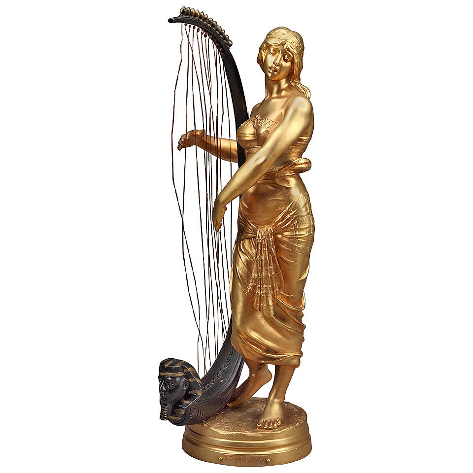 French Bronze Orientalist Figure by Georges Charles Coudray