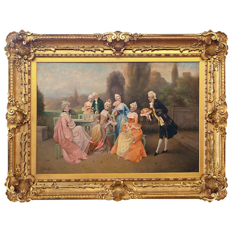 "An English 19th Century Antique Painting Titled ""New Love"""