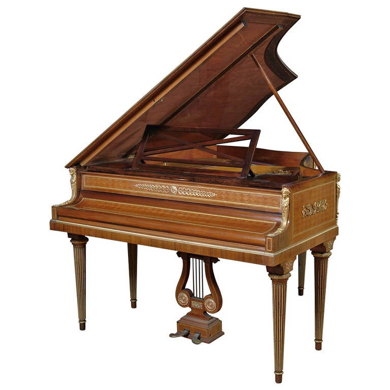 French Ormolu-Mounted and Parquetry Baby Grand Piano by Ignaz Playel