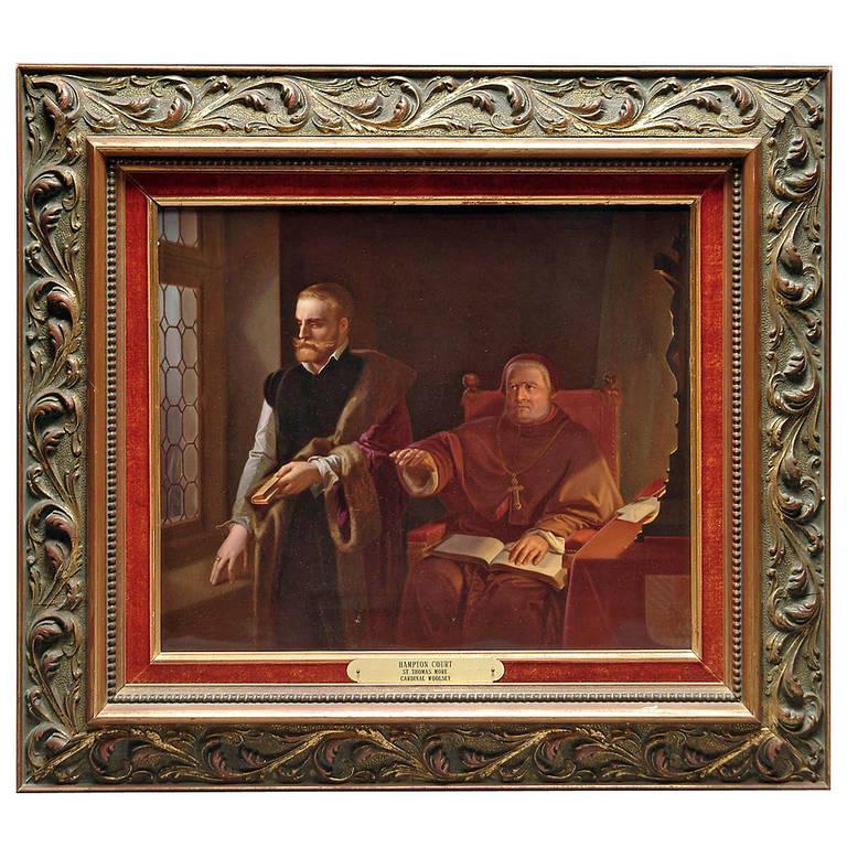 A Berlin Kpm Plaque Of The Hampton Court St Thomas More