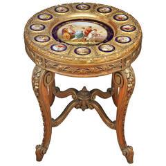 19th Century Austrian Royal Vienna Porcelain Gueridon