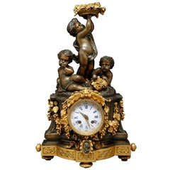 Antique French Figural Clock By Raingo Freres Paris