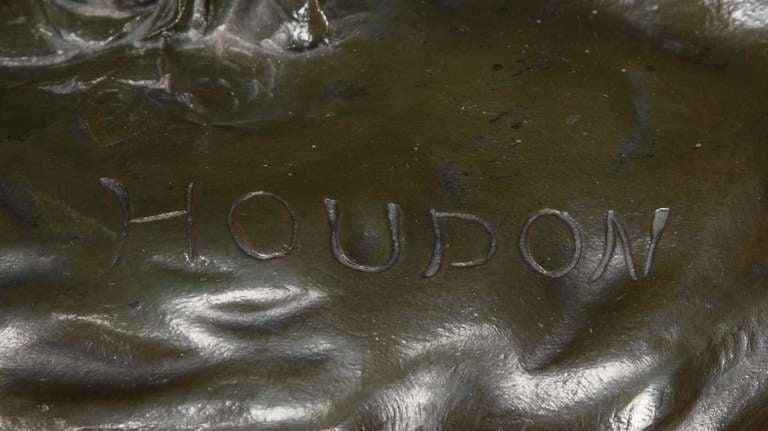 Large Clock Garniture Signed Houdon For Sale 4