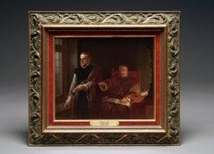 A Berlin KPM Plaque of the Hampton Court St Thomas More & Cardinal Woolsey