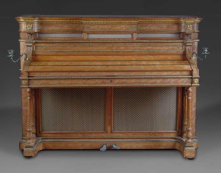 Louis XVI A Fine English Antique Bronze Mounted Erard Upright Piano For Sale