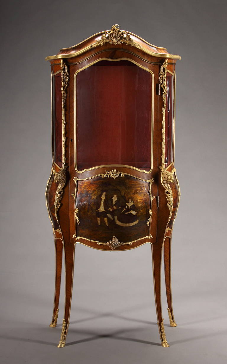 a late 19th century french louis xv style ormolu mounted vernis martin vitrine for sale at 1stdibs. Black Bedroom Furniture Sets. Home Design Ideas
