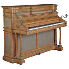 A Fine English Antique Bronze Mounted Erard Upright Piano