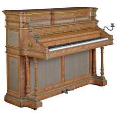 A Fine English Antique Bronze Mounted Erard Upright Piano