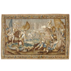 "17th Century Flemish Tapestry Titled ""Battle over Jerusalem"""