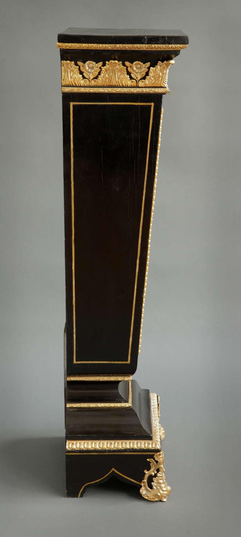 A Pair of Antique Italian Pietra Dura & Gilt Bronze Mounted Pedestals  For Sale 2