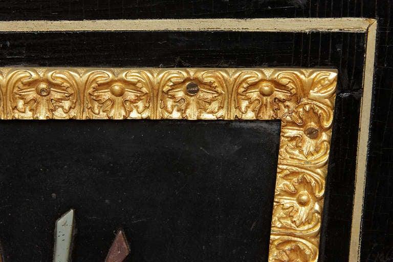 19th Century A Pair of Antique Italian Pietra Dura & Gilt Bronze Mounted Pedestals  For Sale