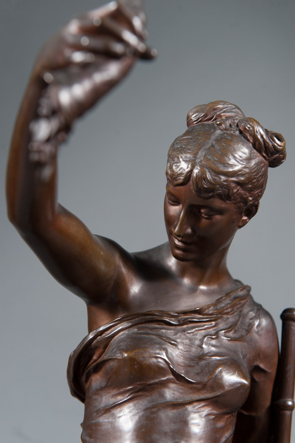 19th Century 19th C. French Bronze Figure of