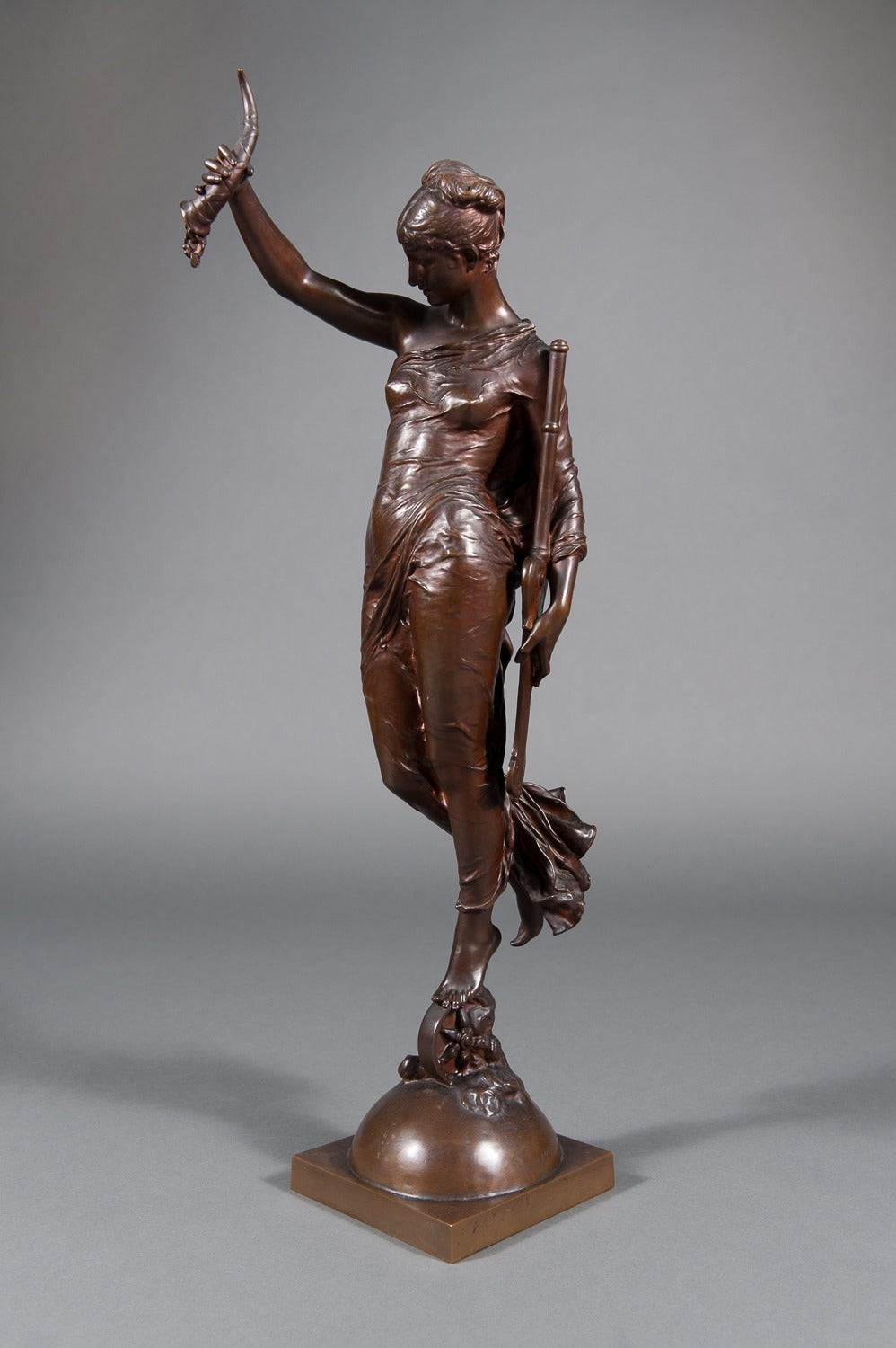 19th C. French Bronze Figure of