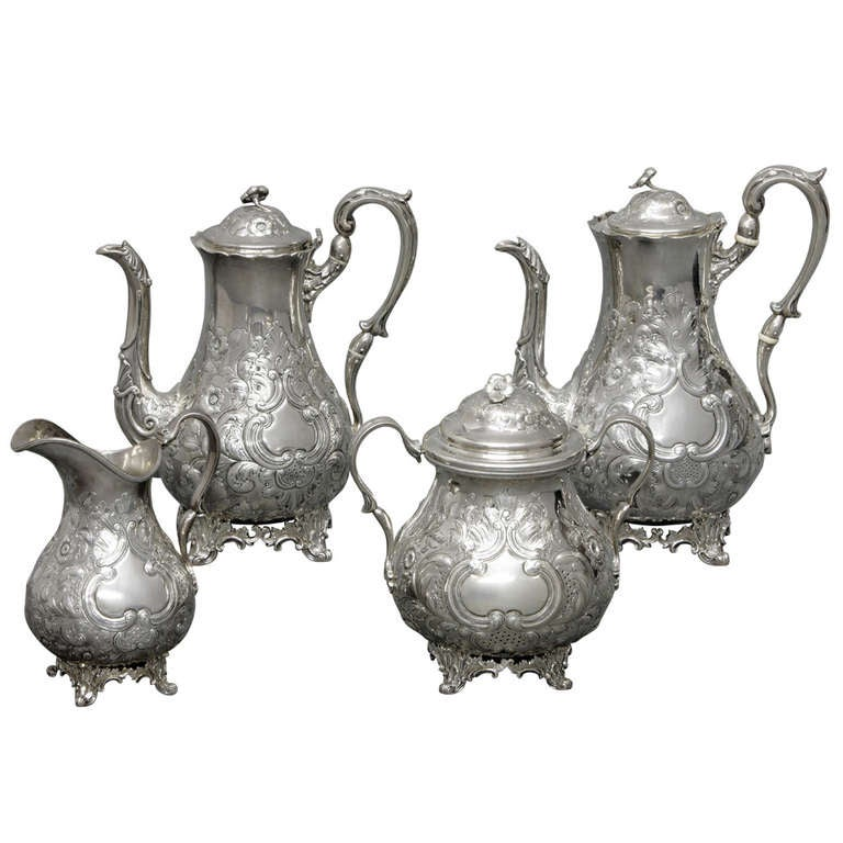 Silver Tea Service by William Forbes for Ball, Tompkins & Black