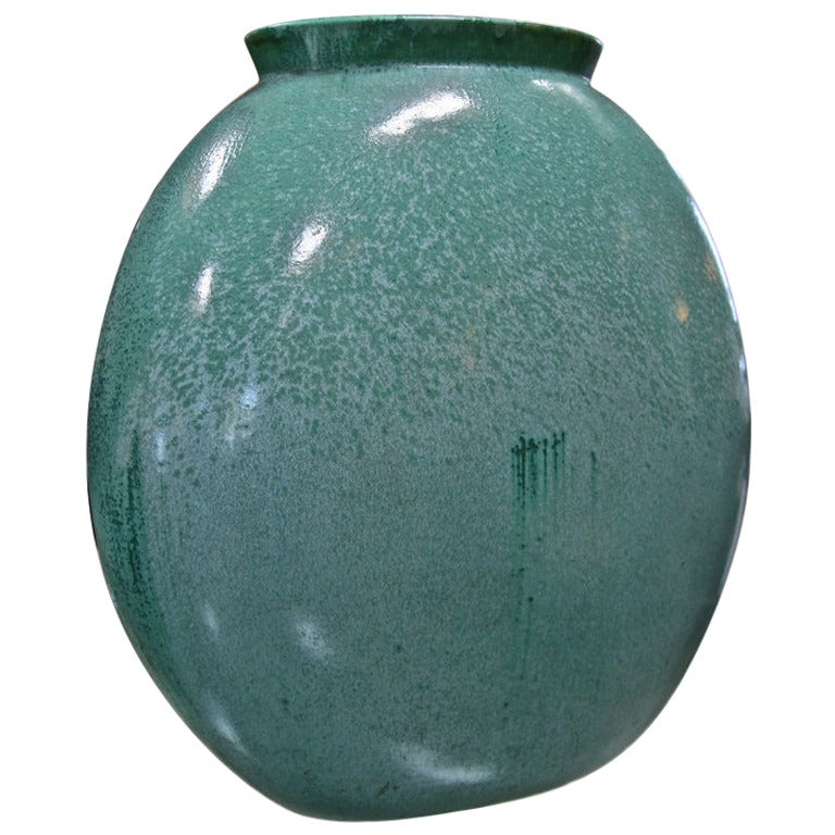 Teal Green Vase by Guido Andloviz For Sale