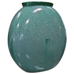 Teal Green Vase by Guido Andloviz