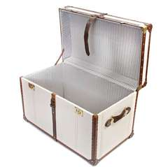 Sailcloth Steamer Trunk by Fox & Hardy