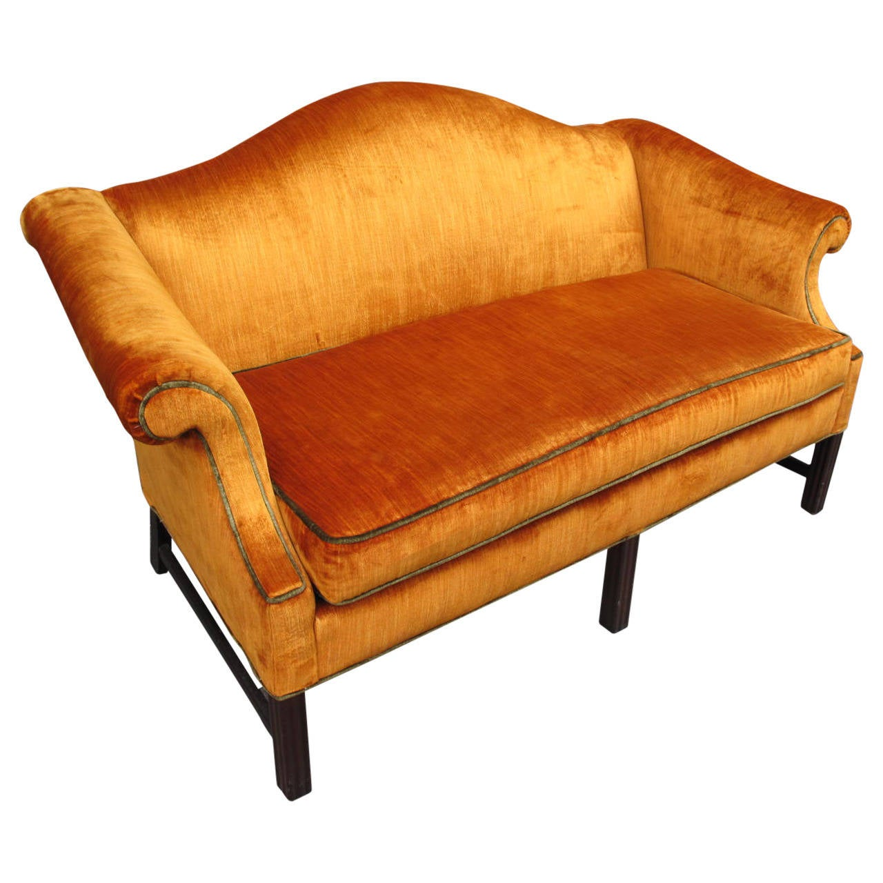 Panne velvet upholstered sofa at 1stdibs Upholstered sofas and loveseats