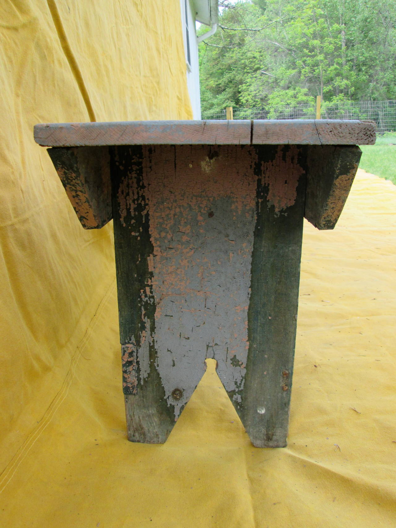 Twelve Foot Primitive Bench At 1stdibs