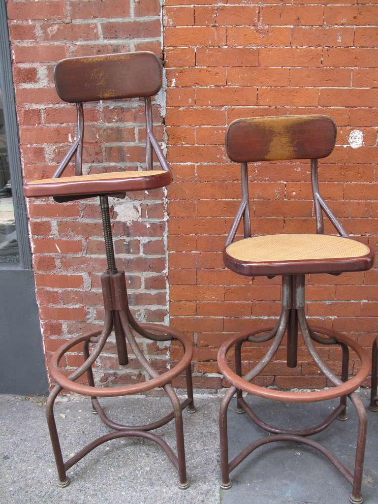 Trio Of Western Electric Telephone Operator Stools At 1stdibs