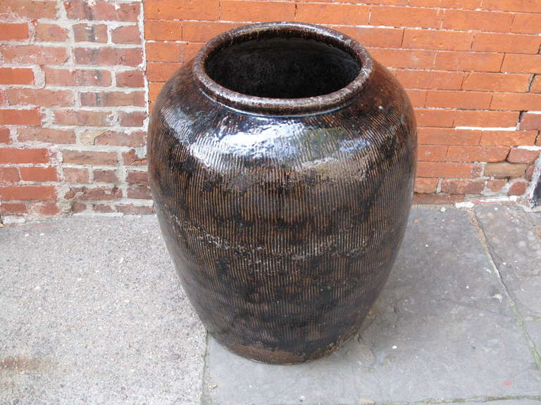 Chinese Glazed Rain Barrel At 1stdibs
