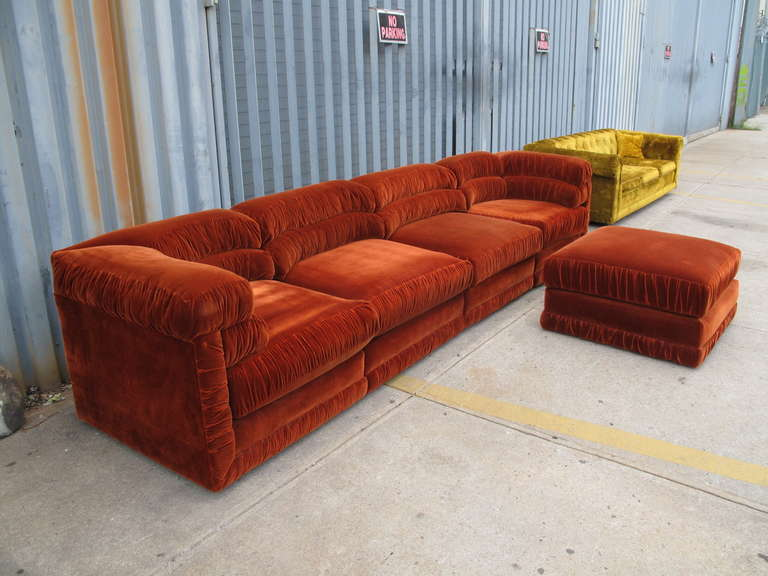 Rust sofa rust colored transitional sofa furniture for Living room with rust colored sofa