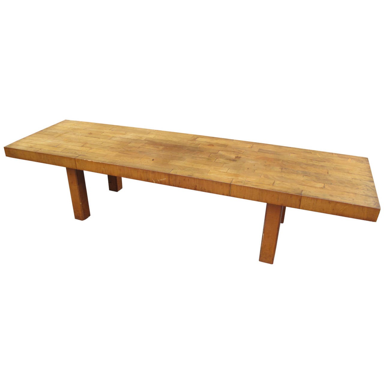 Modern Butcher Block Coffee Table At 1stdibs