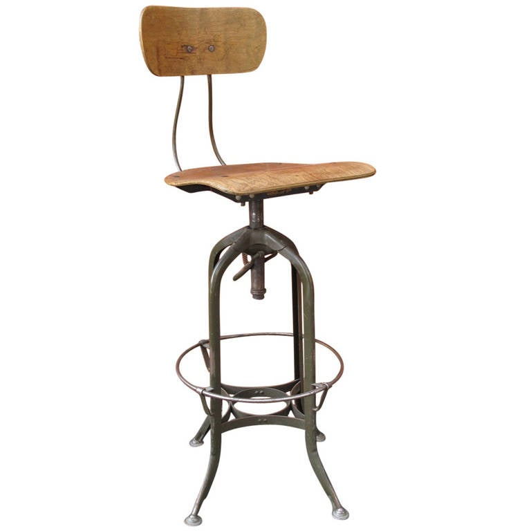 Industrial Toledo Drafting Stool At 1stdibs