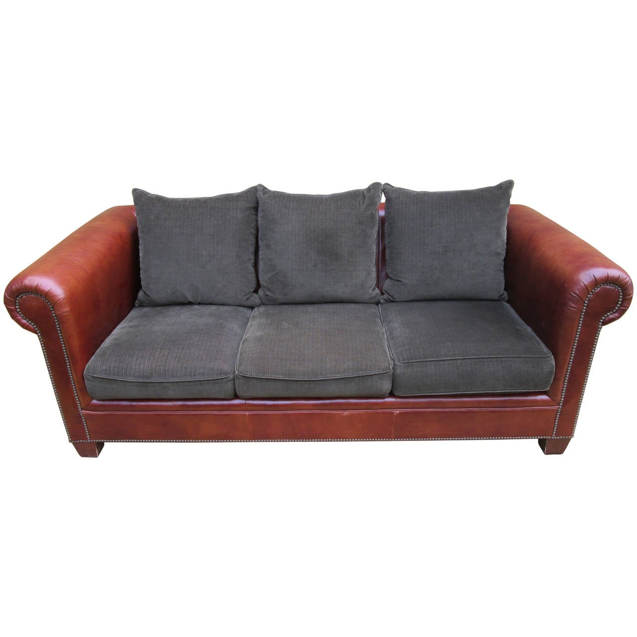 Ralph Lauren Leather Sofa At 1stdibs