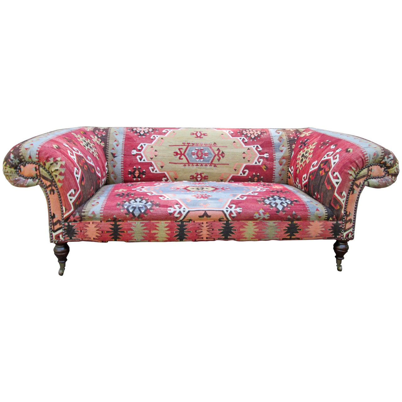 George Smith Quot Early Victorian Quot Sofa In Kilim At 1stdibs