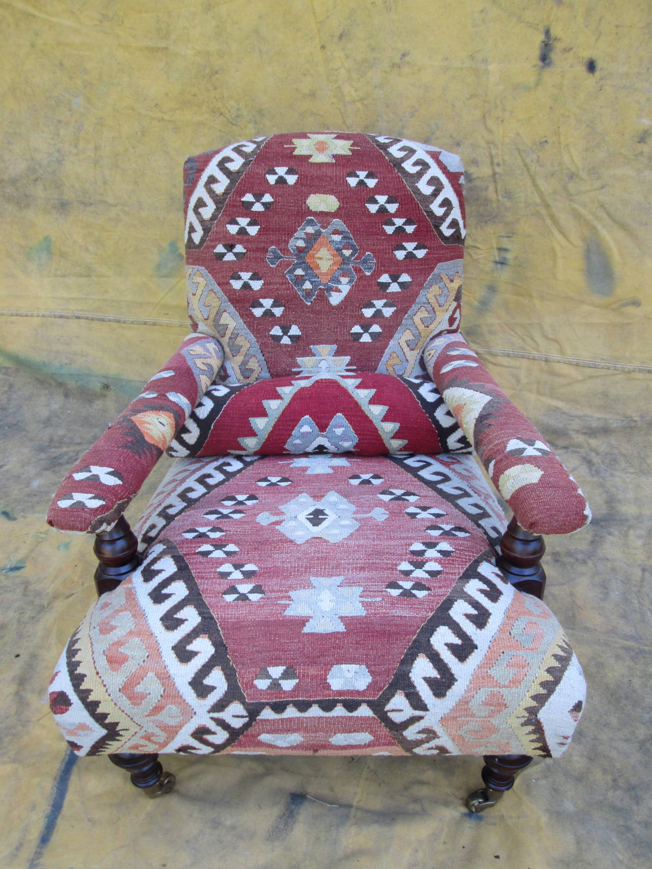 """George Smith """"Edwardian"""" Chair in Kilim at 1stdibs"""