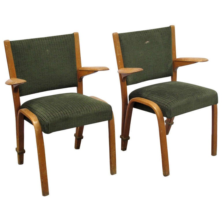 Midcentury French Bentwood Armchairs At 1stdibs