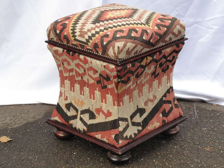 George Smith Kilim Ottoman At 1stdibs