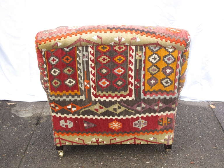 George Smith Kilim Upholstered Armchair At 1stdibs