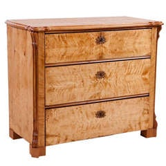 North German Louis-Philippe Chest of Drawers in Birch, circa 1845