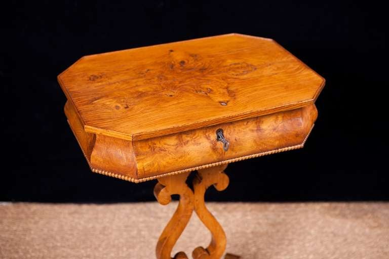 Swedish Karl Johan, Biedermeier Side Table, Sweden, circa 1830 For Sale