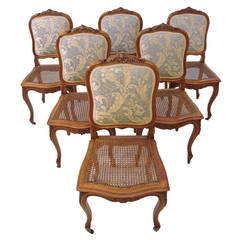 Set of Six French 19th Century Louis XV Style Dining Chairs