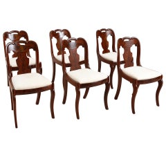 Set of Six American Empire Dining Chairs, circa 1830