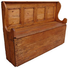 English Bed Bench in Pine, circa 1800
