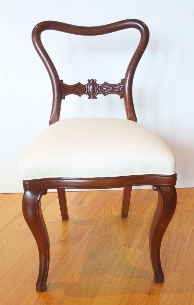 set of ten comfortable baltic mahogany dining chairs with upholstered