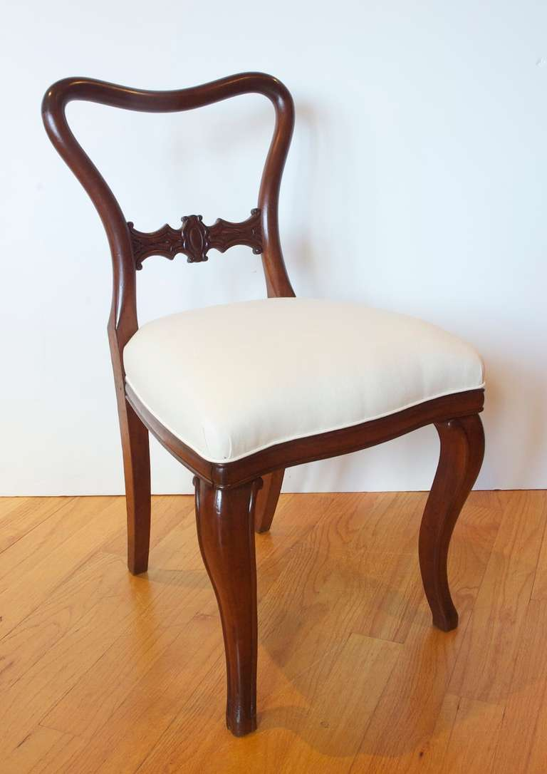 Set Of Ten Comfortable Baltic Mahogany Dining Chairs With