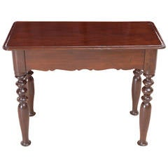 19th Century Dutch Guiana Table in Mahogany with Turned Legs
