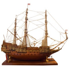 "Ship Model ""Sovereign of the Seas "" a 17th-century warship of the English Navy"