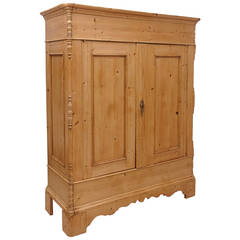 North German Pine Armoire, circa 1830