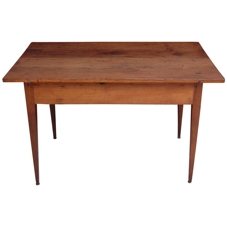 18th Century Country French Pine Table Kitchen Work Table For Sale