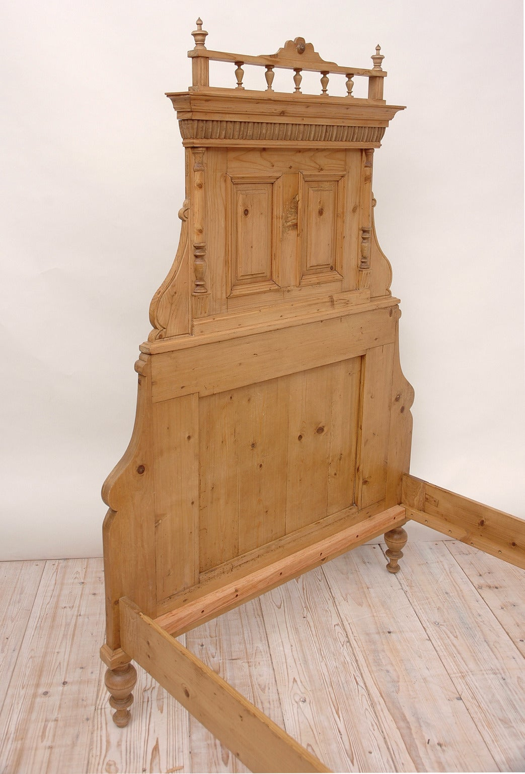 Pair of Antique Pine 3/4 Beds at 1stdibs