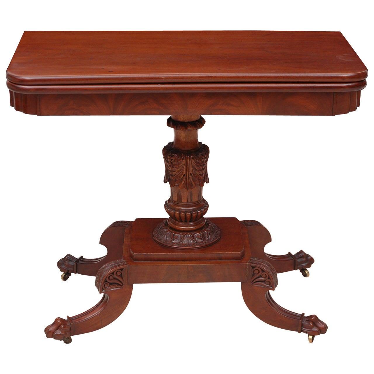 American Federal Center Pedestal Games Table, circa 1815