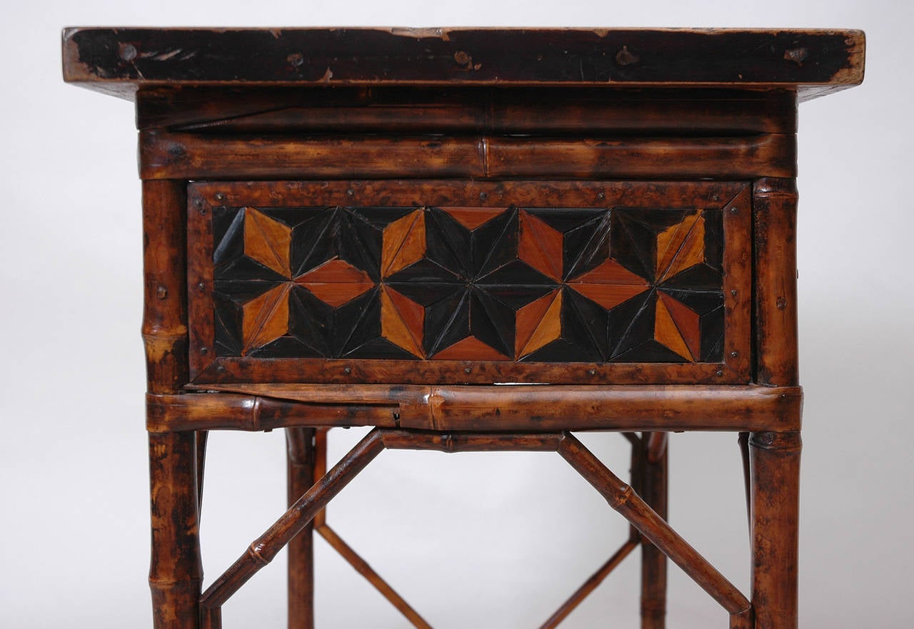 18th century bamboo side table at 1stdibs for Bamboo side table