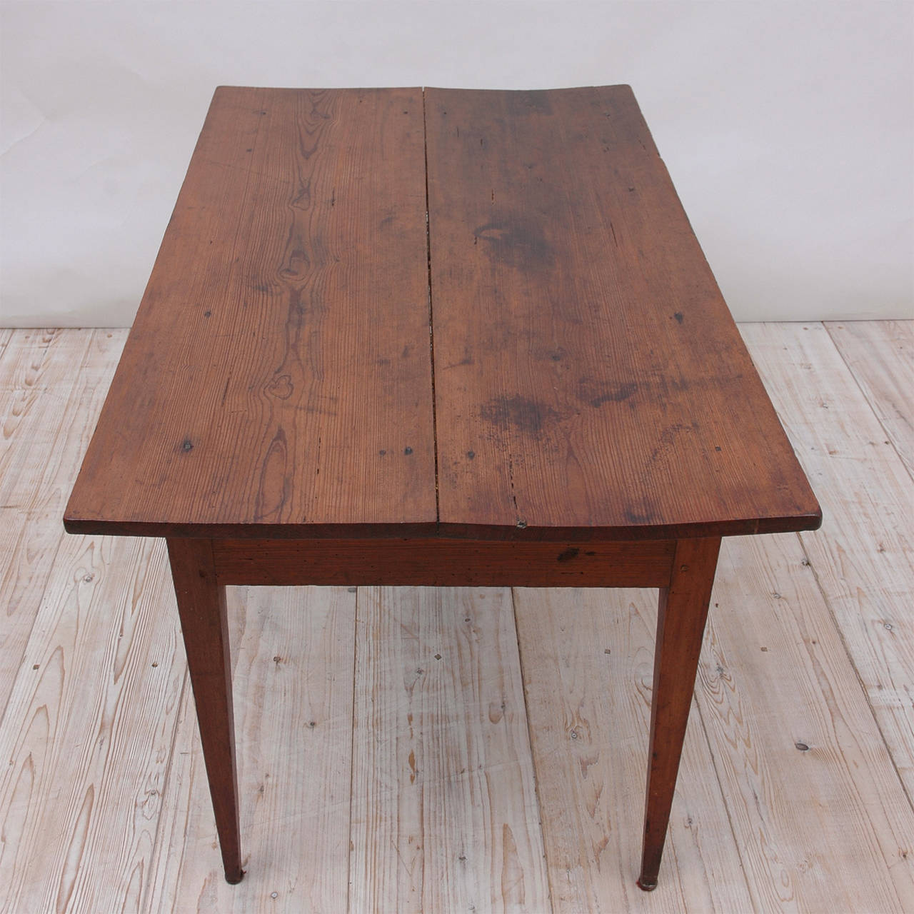 Oiled 18th Century Country French Pine Table Kitchen Work Table For Sale